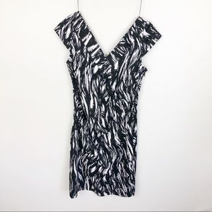 New York And Company Black And White Dress